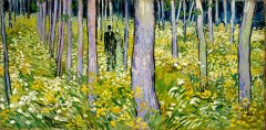 VAN GOGH, undergrowth with two figures